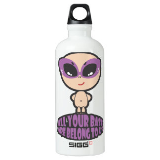 All Your Base Are Belong To Us Aluminum Water Bottle