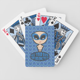 All Your Base Are Belong To Us Blue Playing Cards