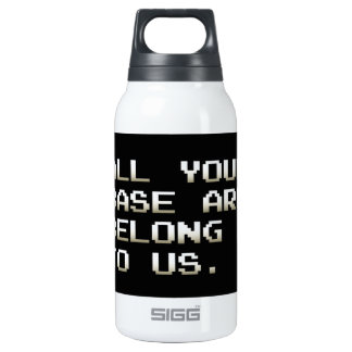 ALL YOUR BASE ARE BELONG TO US INSULATED WATER BOTTLE