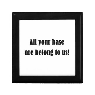 All Your Base Are Belong to Us! Keepsake Box