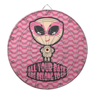 All Your Base Are Belong To Us Pink Dartboard