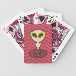 All Your Base Are Belong To Us Red Playing Cards