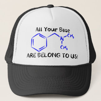 All your base are belong to us. trucker hat