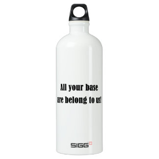All Your Base Are Belong to Us! Water Bottle
