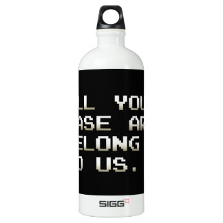 ALL YOUR BASE ARE BELONG TO US WATER BOTTLE