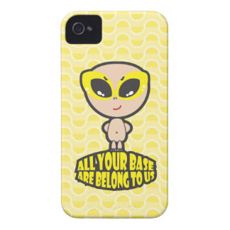 All Your Base Are Belong To Us Yellow iPhone 4 Case-Mate Case