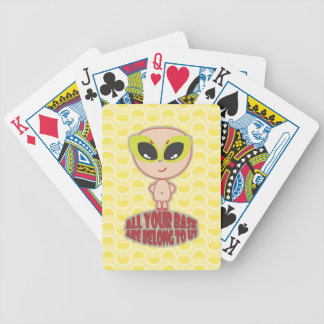 All Your Base Are Belong To Us Yellow Playing Card Bicycle Playing Cards
