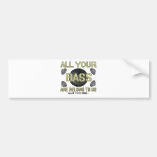 All Your Base Car Bumper Sticker