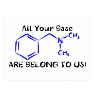 All your base. postcard