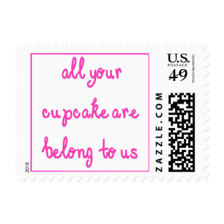 All Your Cupcake Are Belong To Us Pink Text Stamps