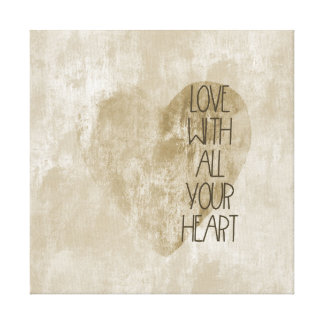 All Your Heart Gold Canvas Print