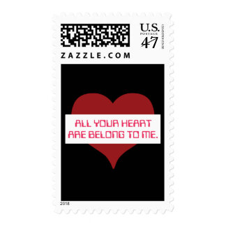 All Your Heart Postage Stamp
