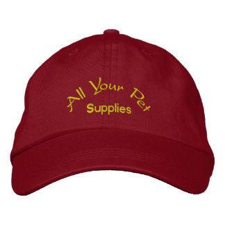 All your pet supplies embroidered baseball cap