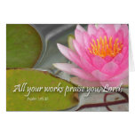 All your works shall praise you, Lord. Psalm 145 Cards