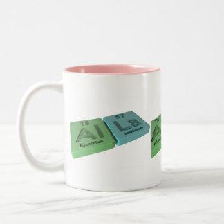 Alla as Aluminium Al and Lanthanum La Two-Tone Coffee Mug