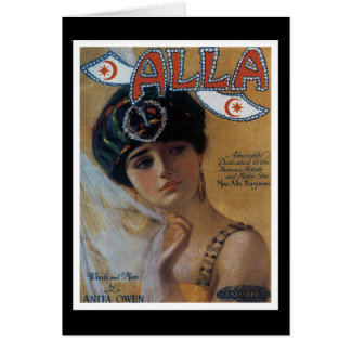 Alla Vintage Song Sheet Coverf Card