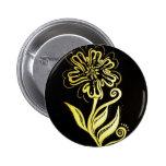 allah (flower) 2 inch round button