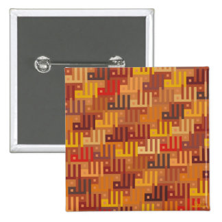 Allah - Islamic sq. kufic calligraphy tessellation Button