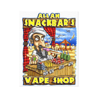 Allah Snackbar's Vape Shop Quality Print Canvas Print
