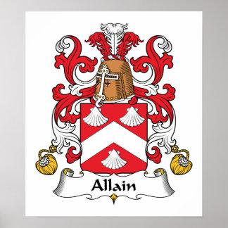 Allain Family Crest Poster