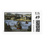Allain Mallet: View of St. Augustine Florida, 1683 Stamps