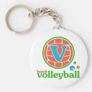 Allaire Beach Volleyball Basic Round Button Keychain