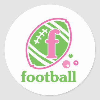 Allaire Football Classic Round Sticker