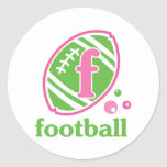 Allaire Football Round Stickers