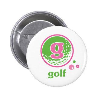 Allaire Golf Pinback Button
