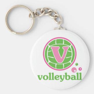 Allaire Volleyball Basic Round Button Keychain