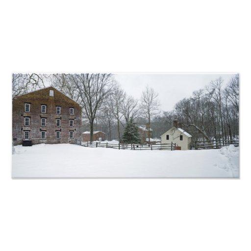 Allaire Winter Panorama Photo