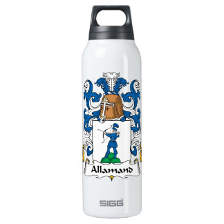 Allamand Family Crest 16 Oz Insulated SIGG Thermos Water Bottle