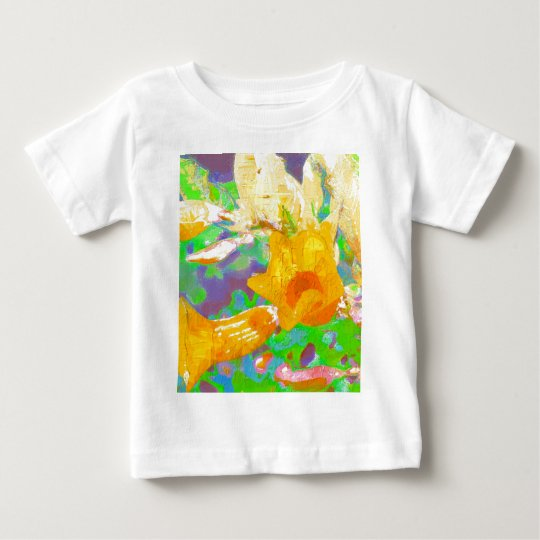 Allamanda flowers with texture baby T-Shirt