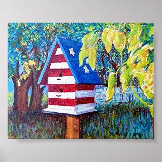 AllAmerican Birdhouse Poster