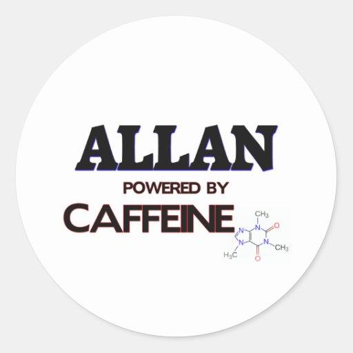 Allan accionó por el cafeína etiqueta redonda