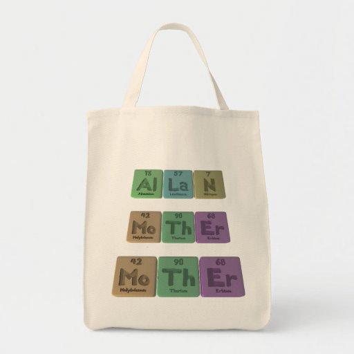 Allan as Aluminium Lanthanum Nitrogen Grocery Tote Bag