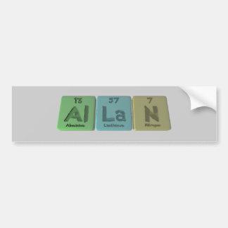 Allan como nitrógeno de aluminio del lantano pegatina de parachoque