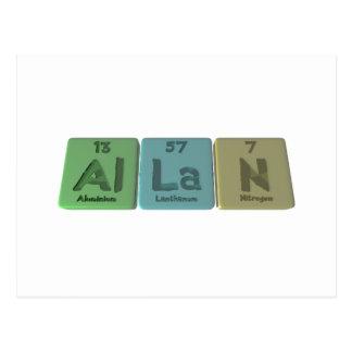 Allan como nitrógeno de aluminio del lantano tarjeta postal