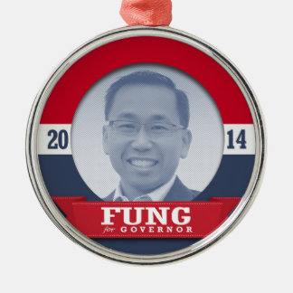 ALLAN FUNG -  CAMPAIGN.png Round Metal Christmas Ornament
