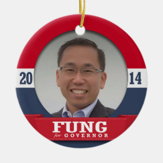 ALLAN FUNG - .jpg Double-Sided Ceramic Round Christmas Ornament