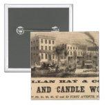 Allan Hay y Company Pin Cuadrada 5 Cm
