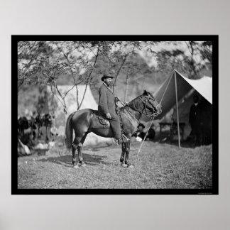 Allan Pinkerton, Head of the Secret Service 1862 Poster