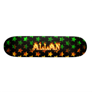 Allan skateboard fire and flames design.