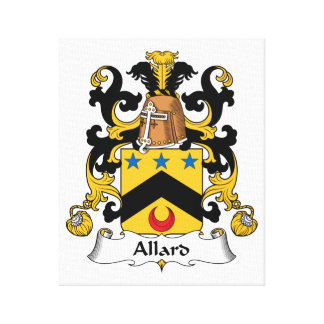Allard Family Crest Stretched Canvas Prints