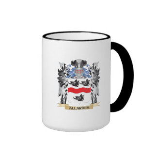 Allardes Coat of Arms - Family Crest Ringer Coffee Mug