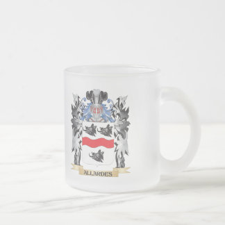 Allardes Coat of Arms - Family Crest 10 Oz Frosted Glass Coffee Mug