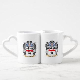 Allardes Coat of Arms - Family Crest Couples' Coffee Mug Set