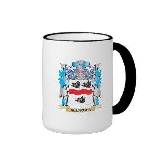 Allardes Coat Of Arms Ringer Coffee Mug