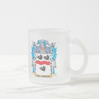 Allardes Coat Of Arms 10 Oz Frosted Glass Coffee Mug