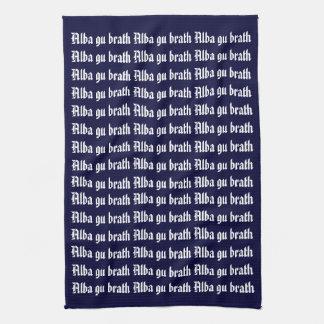 Allba Gu Brath Scotland Forever Kitchen Towel
